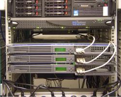 Rack-mounted computer servers